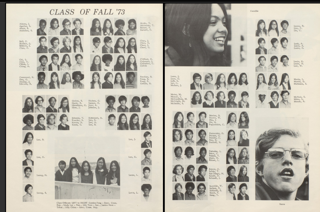 However, the two people who flank Black Betty in the 1973 yearbook photo,  Wayne Ogawa and Betty Ow, both appear in the 1972 yearbook.