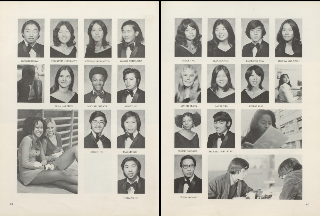 George Washington High, Spring 1973 Graduating Class. No Betty Ong.